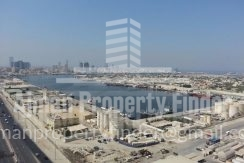 2 BHK in Ajman Pearl Towers - View from balcony