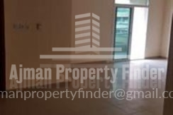 Studio flat in horizon towers ajman - view from kitchen to hall
