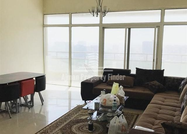 2 BHK flat in Horizon Towers Ajman - Hall View