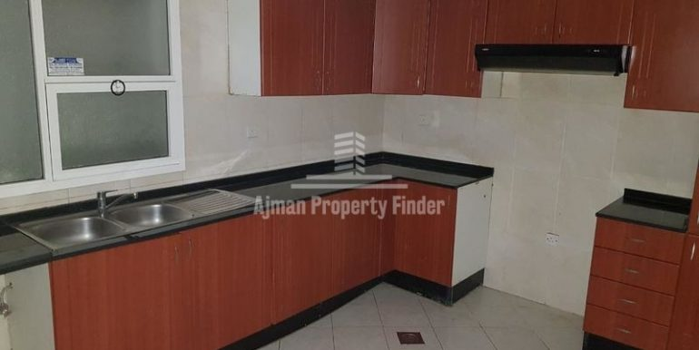 Kitchen view - 1bhk flat - Horizon Towers Ajman